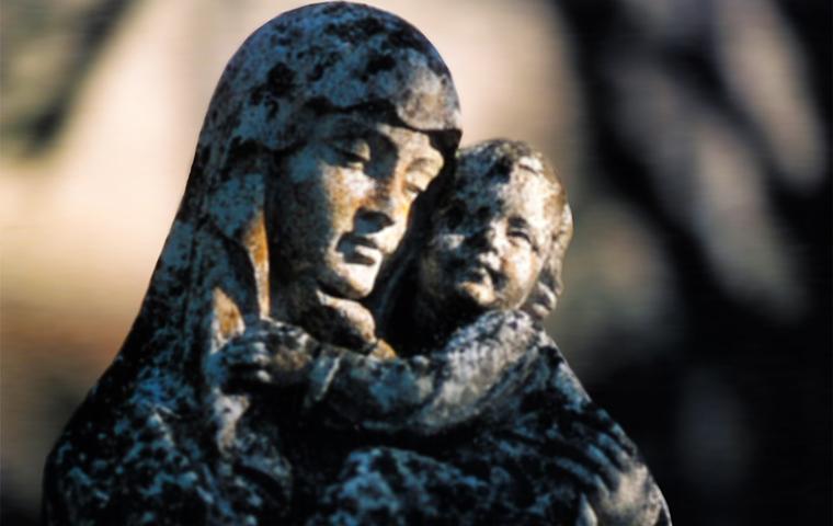 Vierge a l'enfant - Abbaye de Sept-fons à Diou