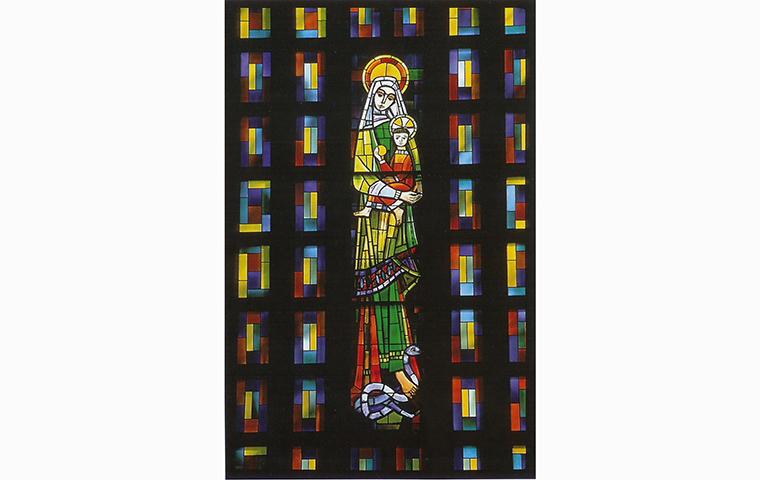 Vitrail de l'église abbatiale - Abbaye de Sept-fons à Diou
