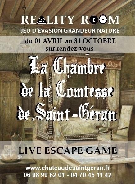 La chambre de la Comtesse de Saint-Géran - ESCAPE GAME