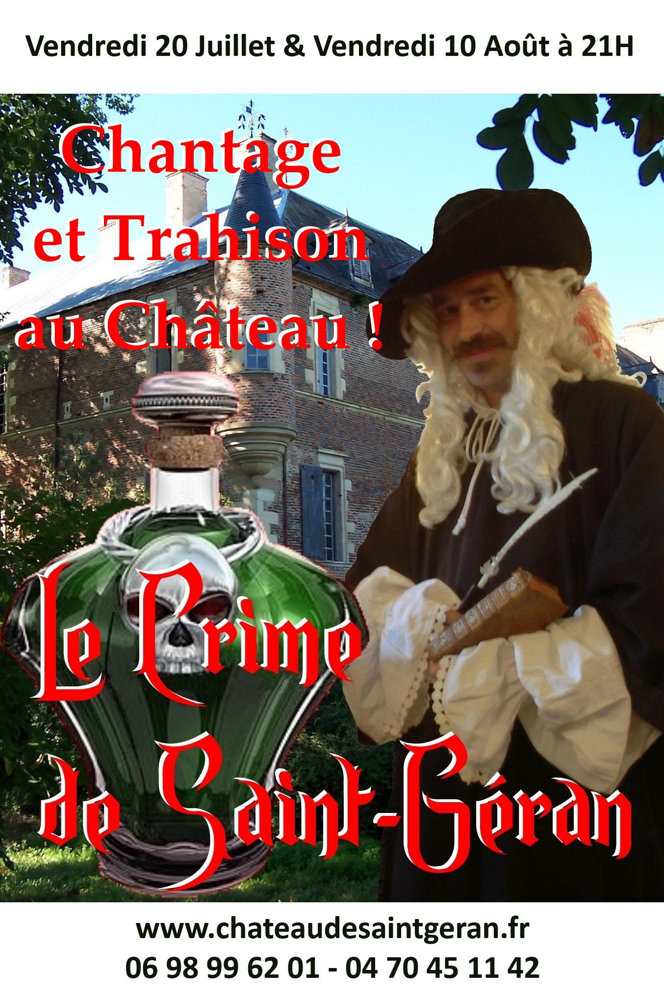 Spectacle «Le Crime de Saint-Géran: Chantage et trahison au château»