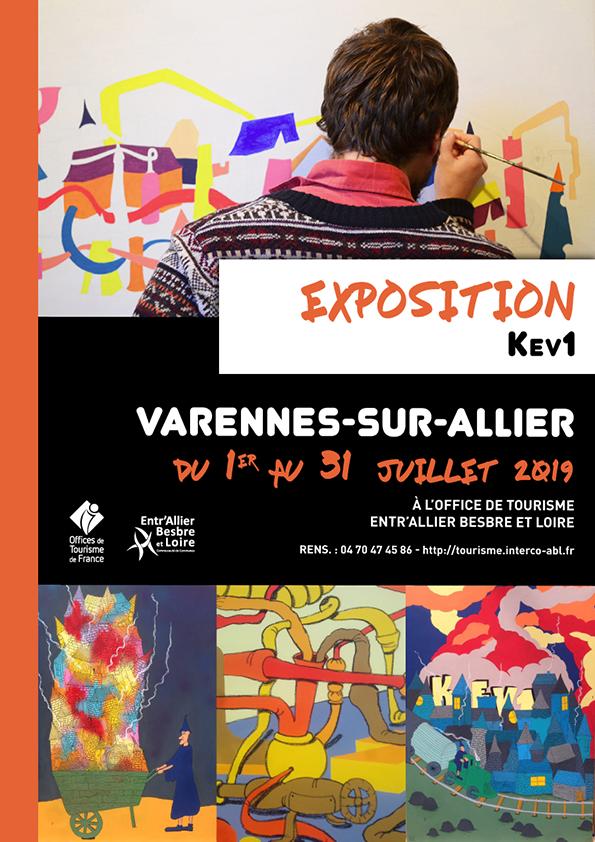 Exposition de KEV1 du 1er au 30 juillet 2019 à l'Office de Tourisme de Varennes-sur-Allier