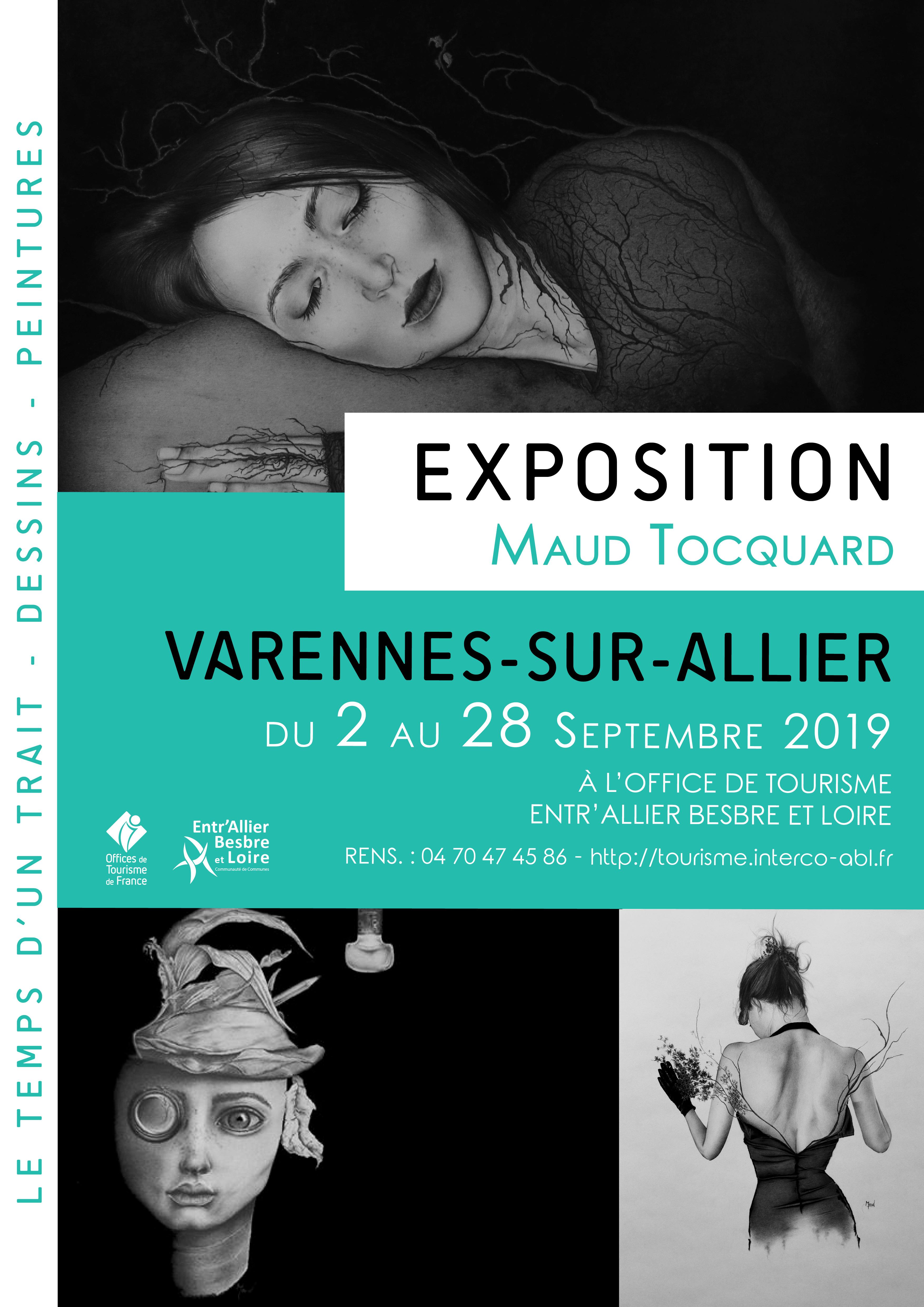 Exposition de Maud TOCQUARD du 2 au 28 septembre 2019 à l'Office de Tourisme de Varennes-sur-Allier