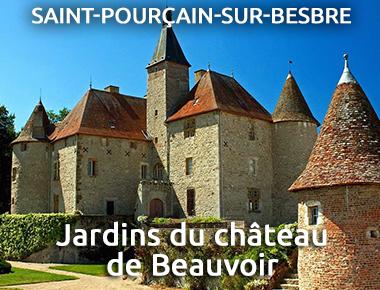 Jardins du château de Beauvoir - St-Pourçain-sur-Besbre