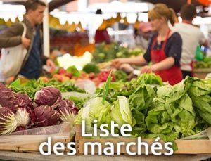 Liste des marchés